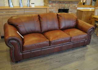 Asara 3 Seater Leather Sofa