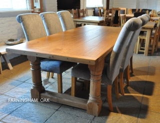 solid oak dining tables pierson antix horizon farningham oak
