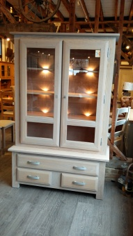 Horizon 2 Door Oak Dresser Bookcase
