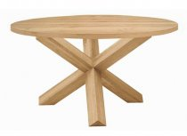Round X Spyder Oak Dining Table