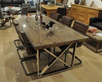 Richmond Rustic / Glass Dining Table