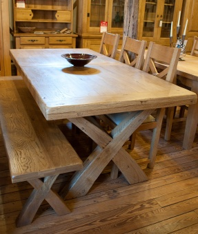 mystic oak dining table - Contemporary Oak Dining Table