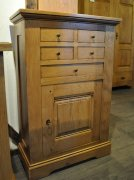 Fleur 5 Drawer Oak Storage Cupboard