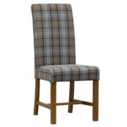 Country Roll Back Upholstered Dining Chair