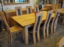 Pierson Extending Linium Table with 8 chairs