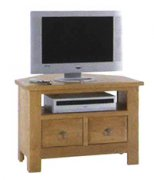 Village Oak Corner TV Unit