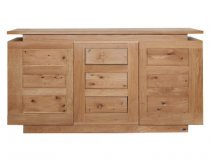 Elements 2 Door 3 Drawer Oak Sideboard