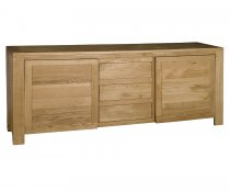 Citie Sliding Door Oak Sideboard