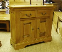 Oak Storage Cupboard 2 Door