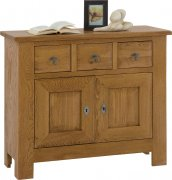Village 2 Door Small Oak Sideboard