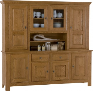 Village 4 Door Oak Dresser
