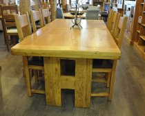H Oak Dining Table