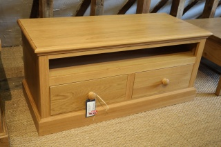Solid Oak TV Unit. Made in the UK