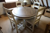 Reclaimed Painted Dining Table & Chairs