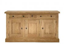 Rustic 3 Door Oak Sideboard