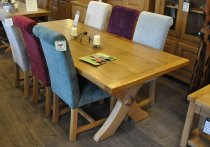 Three Plank Chateaux Oak Dining Table