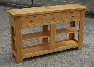 Large Oak Console Table Farningham Oak Country and Contemporary